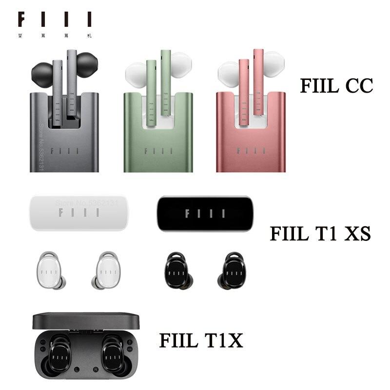 Original FIIL T1X / T1XS / CC Ture Wireless Noise Reduction Bluetooth Earphone Bluetooth 5.2 Heatsets Sports Headphones With Mic